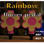 キュートなお花入荷 Rainbow flower pedal